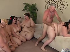 5 Horny BBWs fucked by 3 cocks