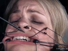 mouth is pulled open